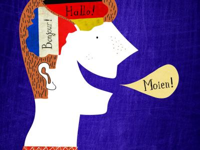 Illustration on the topic of multilingualism